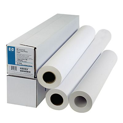 HP Carta per plotter  61,0 cm x 45 m Bright White Bianco brillante 90 g/mq 1 Rotolo (C6035A)