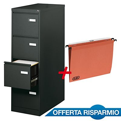 Classificatore in metallo 4 cassetti nero 1 confezione - Porta cartelle sospese ikea ...
