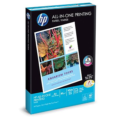 HP All-In-One Carta Multiuso A4 per Laser, Getto dinchiostro, Fax e Fotocopiatrice 80 g/m² Bianca 250 fogli