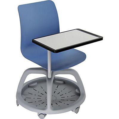 Conference Sedia con scrittoio e ruote, Polipropilene, Blu | Staples®