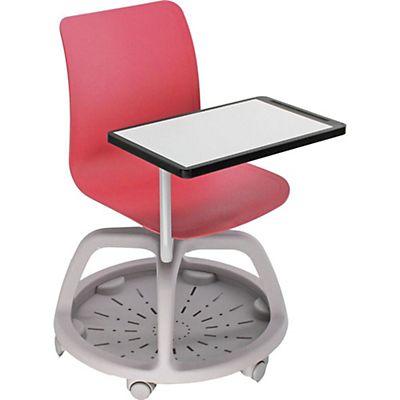 Conference Sedia con scrittoio e ruote, Polipropilene, Rosso | Staples®