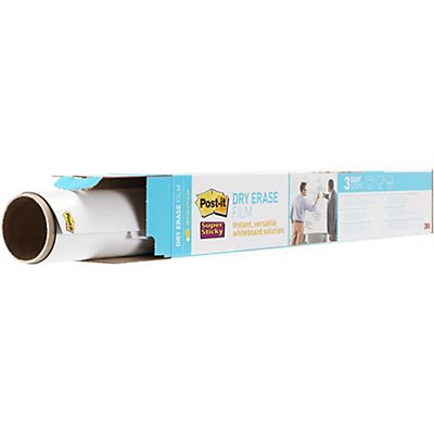 Post-it® DEF50x4-EU Super Sticky Lavagna cancellabile in rotolo, 15,24 x 1,21 m, Bianco lucido