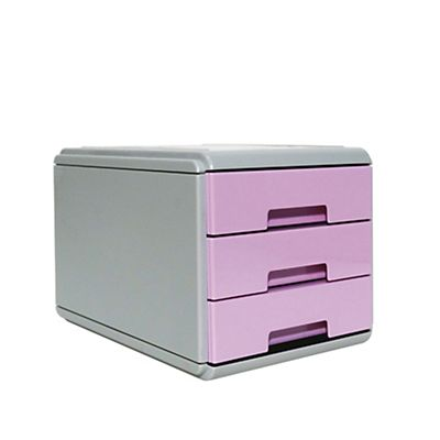 Mini Cassettiera Fai Da Te arda mini cassettiera keep colour pastel - 17x25,4x17,7 cm - grigio/lilla -  arda