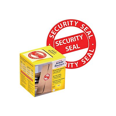 AVERY Zweckform Etichette prestampate in rotolo antimanomissione, Security Seal VOID, Diametro 38 mm, 125 etichette per rotolo