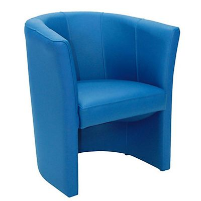 Poltroncina In Pelle Comfort Colore Blu Staples
