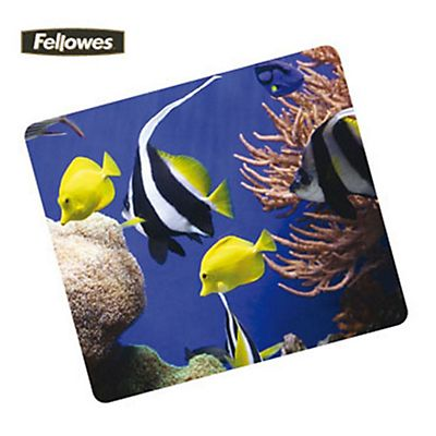 Fellowes Tappetino mouse ecologico, Fantasia Acquario
