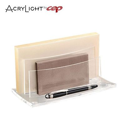 Cep AcryLight 450 Classificatore a scalini 50 buste 2 scomparti Acrilico Cristallo