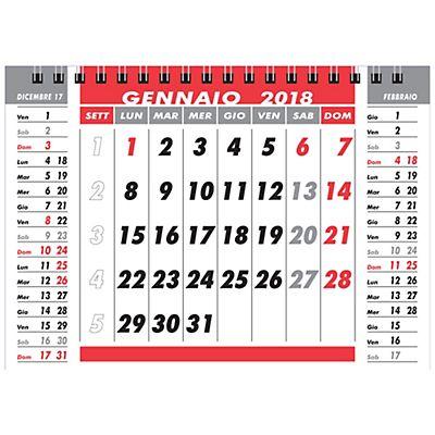 Lediberg calendario da tavolo a piramide con spirale 2018 17 x 17 cm staples - Calendari da tavolo 2018 ...