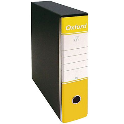 ESSELTE Registratori archivio Oxford - F.to protocollo - Dorso 8 cm - Colore giallo - F.to utile cm 23 x 33 h.