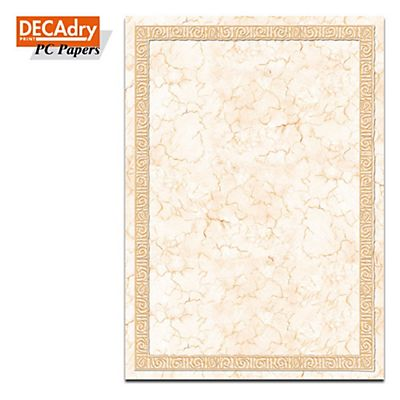 DECAdry Carta a tema A4 (210  x 297 mm) Designed Papers Cornice Di Marmo 90 g/mq 20 fogli