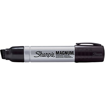 Sharpie Magnum, Marcatore permanente, Punta a scalpello, 2 mm - 15 mm, Nero