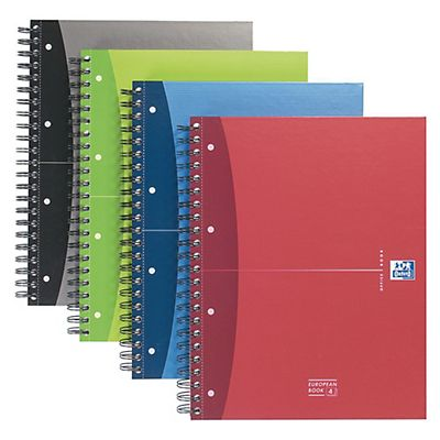 Oxford Blocco spiralato European Book Essentials - F.to A4+ - 120 fogli