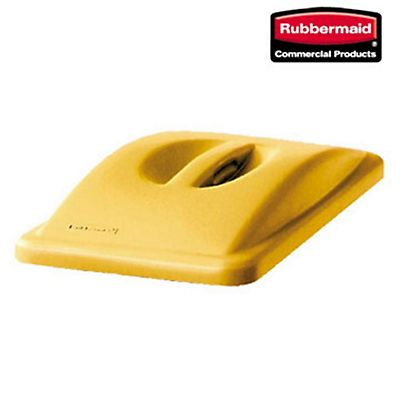 Rubbermaid Commercial Products Coperchio per bidone rifiuti Slim Jim Giallo 288 x 518 x 70 mm