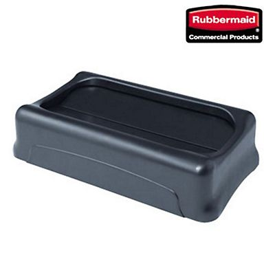 Rubbermaid Commercial Products Coperchio per bidone rifiuti Slim Jim Nero 289 x 521 x 127 mm