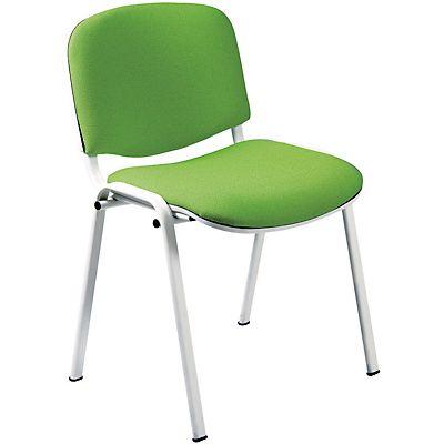 Sedie Da Ufficio Verde.Lady Sedia Attesa Impilabile Tessuto Acrilico 100 Verde Mela Confezione 2 Pezzi