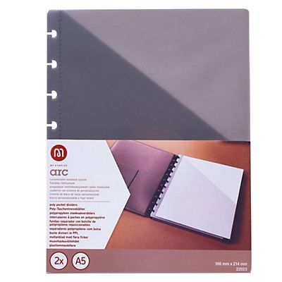 M by STAPLES Buste divisorie . F.to A5 - Colore grigio - Conf. 2 pz.