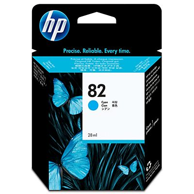 HP , Materiale di consumo, Cartuccia ink hp 82 da 28ml ciano, CH566A