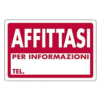 Cartello segnaletico affittasi materiale plastico 30 x for Affittasi stanza uso ufficio roma