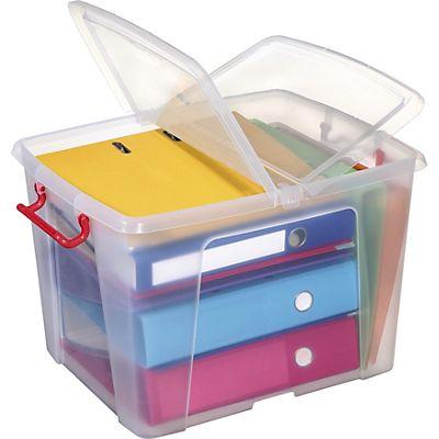 Staples Contenitore Multiuso In Plastica Con Coperchio Impilabile