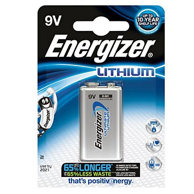 Energizer Pile litio Ultimate Lithium - Transistor - 9 Volt