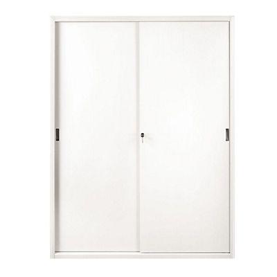 Armadi Metallici Con Ante Scorrevoli.Armadi Metallici Alti Con Ante Scorrevoli Colore Bianco Dimensioni Cm 120 X 45 X 200 Mondoffice