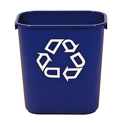 Rubbermaid Commercial Products Contenitore da scrivania per raccolta differenziata Blu scuro 12,9 litri 210 x 289 x 310 mm