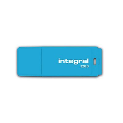 INTEGRAL MEMORY Neon Flash Drive 32 GB USB 2.0, Blu