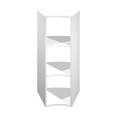 Libreria Angolare.Multicolor Libreria Angolare A 2 Ripiani Dimensioni 27 4 49 8 X 39 7 46 X 103 9 Cm Colore Bianco