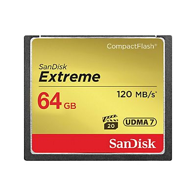 SanDisk Compact Flash Extreme - 64 GB - 120 MB/sec