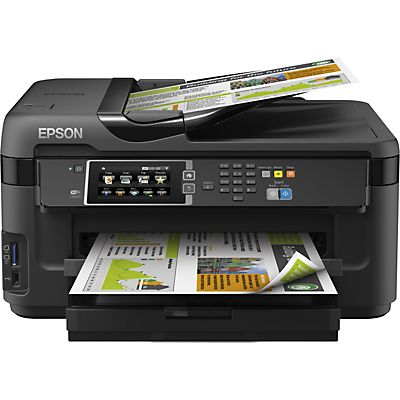 epson workforce wf 7610dwf stampante multifunzione inkjet a colori wi fi a3 staples. Black Bedroom Furniture Sets. Home Design Ideas