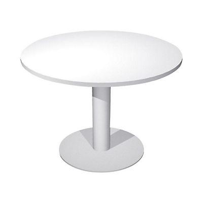 Gambe Metalliche Pieghevoli Per Tavoli.Linea Work Tavolo Riunioni Rotondo Con Gamba E Base In Metallo 100 X