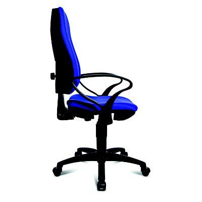 Topstar sedia operativa per ufficio con braccioli blu for Ufficio blu