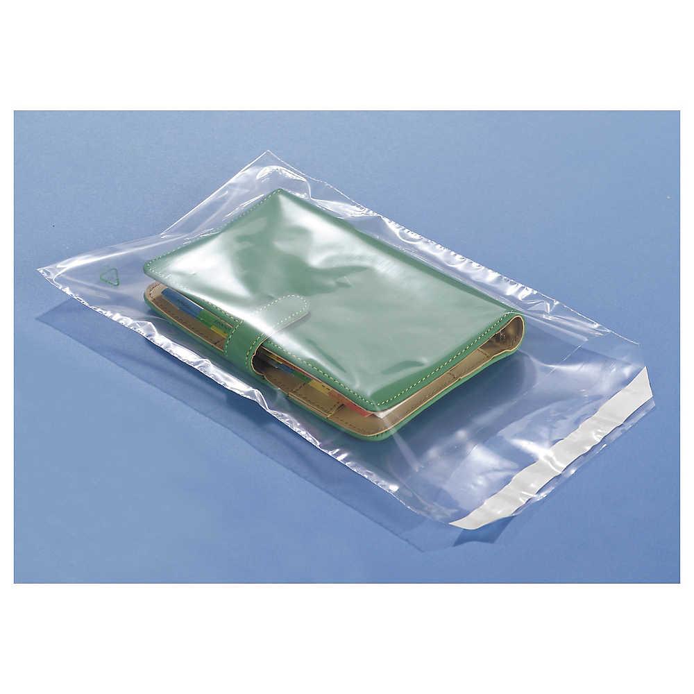 Bolsa de polietileno con cierre adhesivo 50 micras 15x18cm