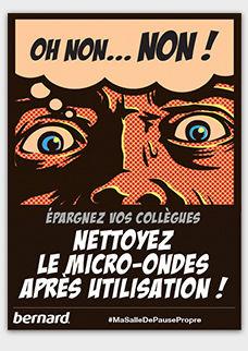 Affiche Gratuite Gardez La Salle De Pause Propre A Telecharger
