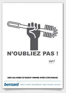 Affiche Nettoyage Toilette