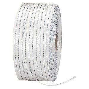 1 bobine feuillard textile tissé 1100m, largeur 13 mm