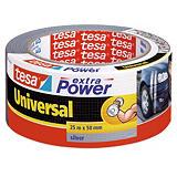 1 rouleau adhésif de réparation Extra Power universel Tesa 50 mm x 25 m gris