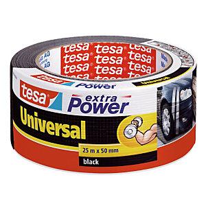 1 rouleau adhésif de réparation Extra Power universel Tesa 50 mm x 25 m noir
