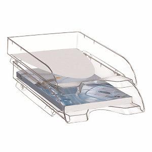 10 bacs à courriers Cep Pro gamme classique coloris cristal transparent