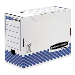 10 boîtes archives automatiques Fellowes Dos 15 cm
