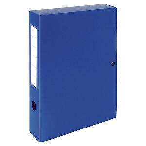 10 boîtes de classement dos 10 cm polypropylène coloris bleu