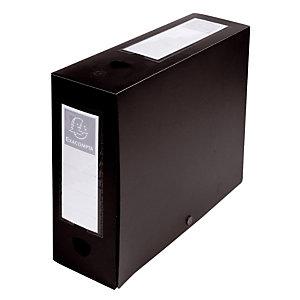 10 boîtes de classement dos 10 cm polypropylène coloris noir