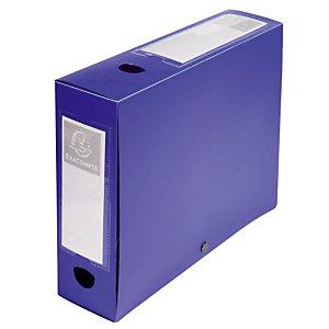 10 boîtes de classement dos 8 cm polypropylène coloris bleu