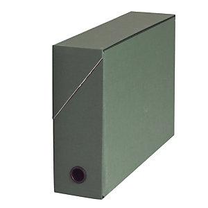10 boites de classement carton dos 9 cm coloris vert