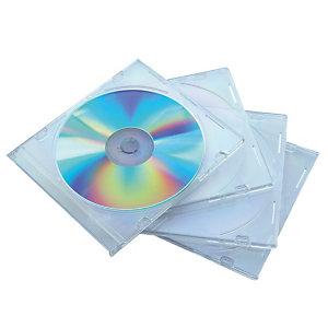 10 boitiers CD fins en plastique coloris transparent