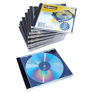 10 Boîtiers standard plastique noir pour CD et DVD