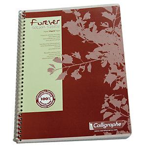 10 cahiers à spirale 100 pages 5 x 5  format A4 Forever coloris assortis, le lot