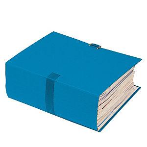 10 chemises extensibles à boucle Exacompta coloris bleu