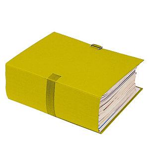 10 chemises extensibles à boucle Exacompta coloris jaune