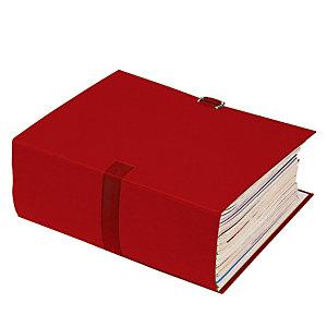 10 chemises extensibles à boucle Exacompta coloris rouge